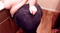 MOMMY fixing snacks and spilling wine -short-