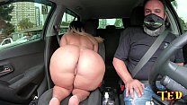 Wanessa Boyer appears on the ride to Ted # 35 with his giant ass