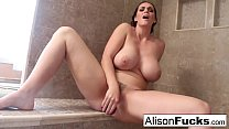 Alison tyler rubs herself to completion in a giant steamy shower صورة