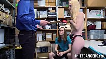 Hot Shoplifting Goth Teen Fucked In Front Of Her Geeky Boyfriend