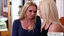 Two hot blondies Tiffany and mom Briana goes 69...