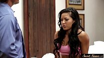 Petite latina drilled by her horny stepdad