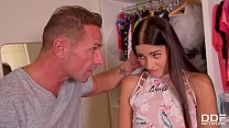 His giant veiny cock makes teen Eveline Dellai scream for more anal action