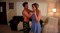 Brother Forces Sister to Give Him a Blowjob - B...