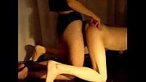 Miss B drills Slave P with a HUGE strap-on Vorschaubild