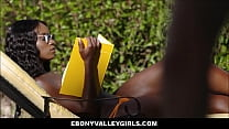 Sexy Rich Petite Black Teen Fucked By White Pool Guy image