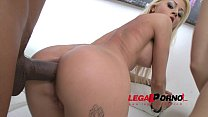 Suzan Ayn & Chloe Lacourt anal 4some with doubl...