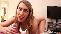 Kimber Lee Sucks Cock before her Husband Gets Home!