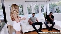 Horny babe Karla Kush gets spitroasted hard by big cocks pornhub video