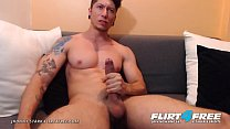 Jhonny Stark - Flirt4Free - Dominating Toned Latino Jerks His Big Cock on Cam