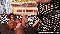 xnxsexvideos » Hot latina bbw angelina castro strapon fucks ebony maserati! thumbnail