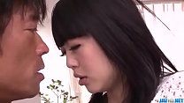 Riisa Minami moans while feeling a big dick in ...