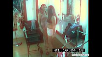 CCTV Captures A Hot And Skanky Lesbian Affair Preview