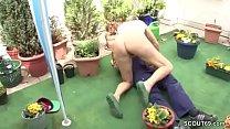 German Young Boy Seduce His Granny to Fuck in Garden Vorschaubild