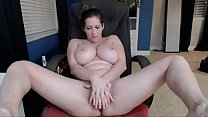 Busty White Woman Fucks Dildo and Sucks Tits - HornySlutCams.com preview image