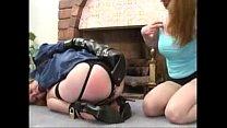 Natali demore enjoys with her lesbian slave thumbnail