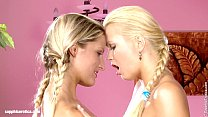 Beautiful blondes Paula and Aloha lesbian fun i...