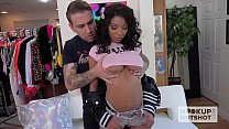 Hot young ebony babe gets destroyed by hookup hotshot - 9Club.Top