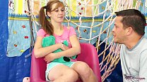 TeenyPlayground Sweet teen Alexis Crystal takes a load of cum  her tits - 9Club.Top