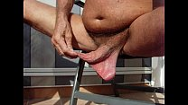 Long foreskin - Low hanging balls. Thumbnail