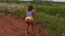 Raquel Exibida se mostrando pelada na beira da Estrada