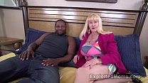 Sexy Blonde Grandma Gives Her First Blowjob in ...
