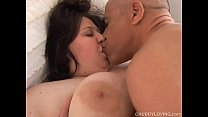 Bubbly big tits BBW loves to fuck and sticky facial cumshots video