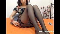 Sweet Brunette Dildofucking Her holes On webcam - www.chatmypussy.com