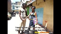 Real African Amateur Slut Street Pickup and Toi...
