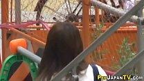 Japanese teen pees public Thumbnail