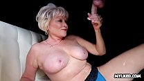 Older MILF Made Him SPURT Across her Tits's Thumb
