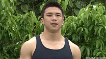 Asian Hunk Public Wanking