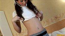 Skinny schoolgirl masturbating with a toy pornhub video