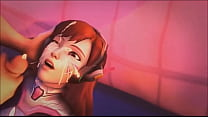 Overwatch D.va Blowjob And Cumshot HD Thumbnail