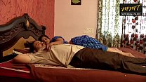 Indian House wife sharing bed with her Husband friend when his husband deeply sleeping thumbnail