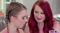 Stepmom licks her college stepdaughter