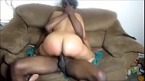 Blk GILF Talks Dirty, Cums Hard Many Times on B...