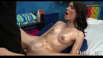 Beautiful 18 year old cuteie gets drilled hard by her massage therapist Thumbnail