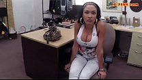 Big boobs amateur brunette latina rammed at the pawnshop video