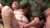 ugly fat 80 years old mom first outdoor threesome thumbnail