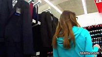 Beautiful czech teenie was tempted in the hypermarket and plowed in pov