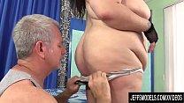 A Sex Crazed Masseur Rubs Down BBW Moon Baby's Fat Body and Fleshy Cunt