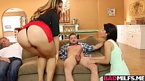 14347 Horny milf Raquel and gf Renelope 3some with hot bf preview