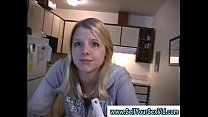 Girl sucks bf in real home video