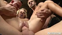 Hot Blonde Aiden Aspen Is Bound And Gets Facials image