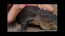 WTF Hot Babes Riding Alligators! Thumbnail