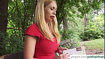 Russian blonde babe Isabella gets fucked in the park thumbnail