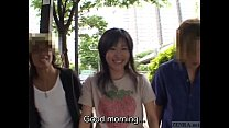 Subtitled Japanese AV star stripped naked in public to orgasm - 9Club.Top