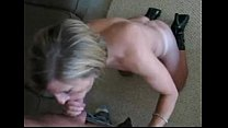 Sexy wife gives blowjob