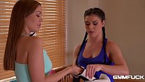 GymFuck Threesome for Horny coeds Inna & Angelica Heart - 9Club.Top